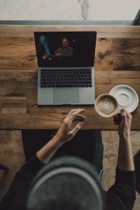 online coffee date
